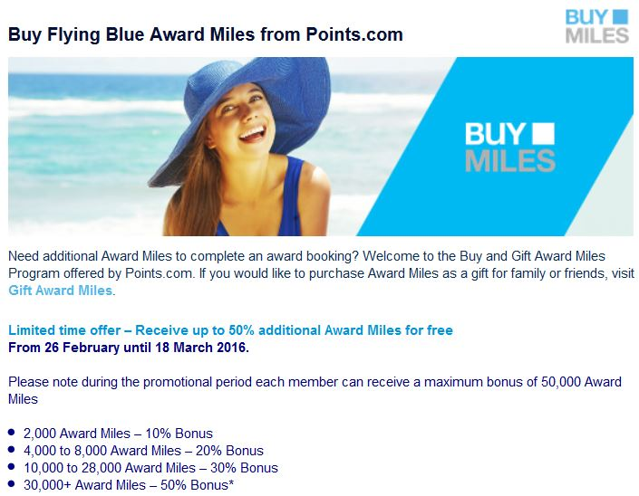 Flying Blue Promo
